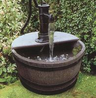 Garden Water Feature Half Barrel